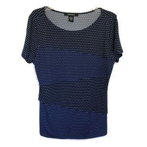 89th & Madison XL women's blue print top